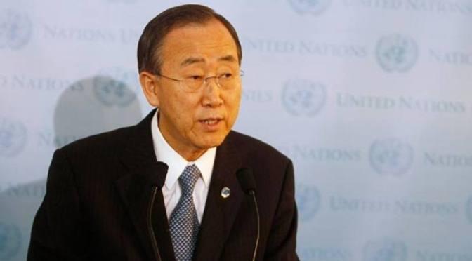 Ban Ki-moon sente vergonha do 'fracasso' internacional na Síria