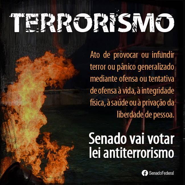 Lei contra terrorismo na pauta do Senado