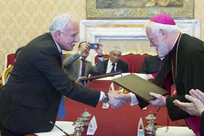 Israel lamenta acordo entre Vaticano e Palestina