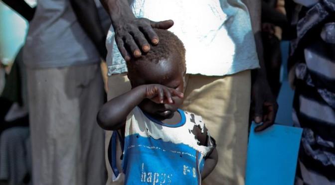 As crianças massacrados em batalhas no Sudão do Sul