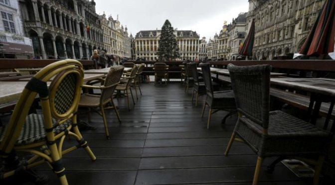 Serão as ruas desertas de Bruxelas uma imagem da Europa do futuro?