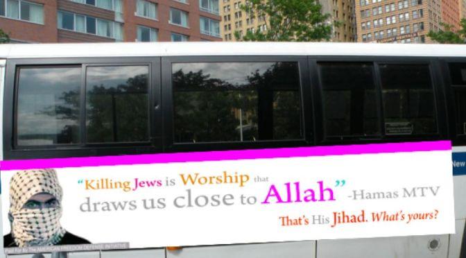 """Nova York autoriza anúncio com a afirmação: """"matar judeus é louvar a Alá"""""""
