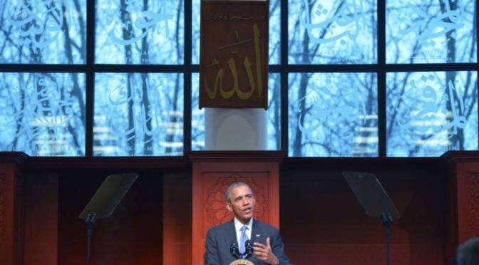 Em mesquita, Obama ataca 'retórica indesculpável' contra muçulmanos
