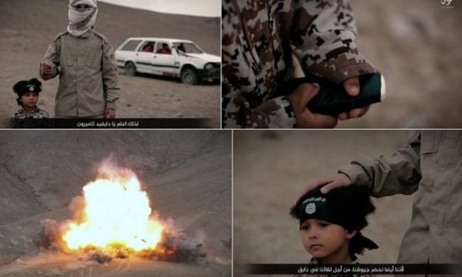 Menino de 4 anos explode carro com prisioneiros em novo vídeo do EI