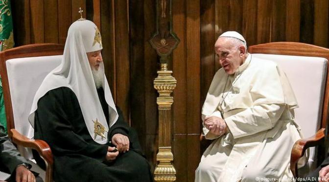 Papa e patriarca russo unem esforços pelos cristãos