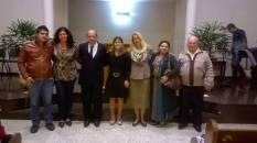 A nossa querida integrante do EVM, Andrea Giordana Ribeiro, o esposo Ali, o pastor Donizete e esposa Nanci Ferrara Ricci, e a sra. Luzia com seu esposo Luiz.