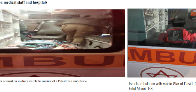 Autoridades israelenses criticam imagens falsas divulgadas em relatório da OMS sobre palestinos
