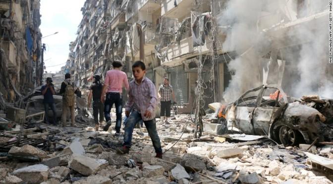 Rebeldes sírios atacam bairro cristão em Aleppo, matando 4 crianças e a força aérea russa intervém matando os terroristas