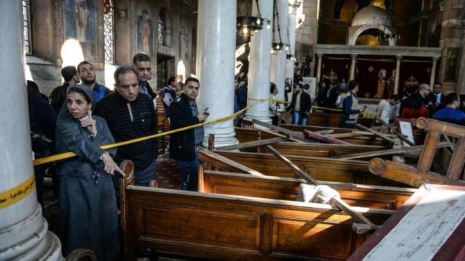 Ataque em principal catedral copta do Egito mata 25 pessoas