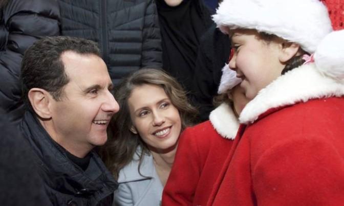 Presidente sírio visita orfanato cristão de Damasco em dia de Natal