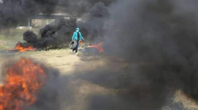 Violência palestina na fronteira resulta em 7 mortos e mais de 1000 feridos