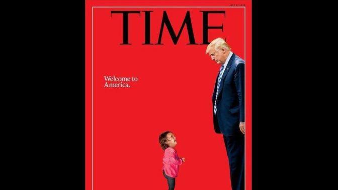Menina imigrante chorando na capa da revista TIME não foi separada da mãe, diz a família
