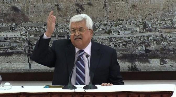 O líder da AP, Abbas, declara: 'Nós nunca vamos parar de pagar mártires e prisioneiros'