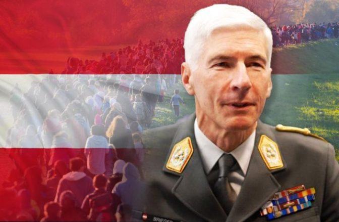 Chefe do Estado-Maior austríaco: A imigração em massa é a maior ameaça à nossa segurança; a proteção das fronteiras é necessária
